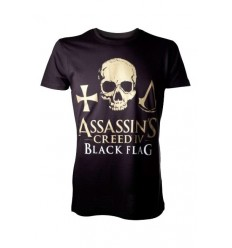 Assassin's Creed IV: Black Flag - T-Shirt Golden Logo Skull