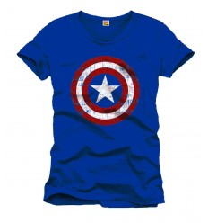 Marvel - Captain America Blue T-shirt - Shield Logo