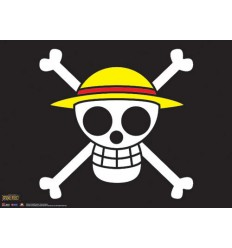 One Piece - The Straw Hat Pirates Flag Wall Scroll - 33'' x 44''