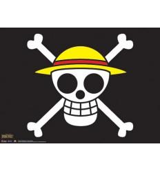 One Piece - Wallscroll Poster Drapeau Pirates Chapeau de Paille - 84 x 112 cm