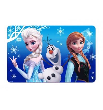 La reine des neiges set de table 3d bleu avec elsa anna - Reine des neige olaf ...