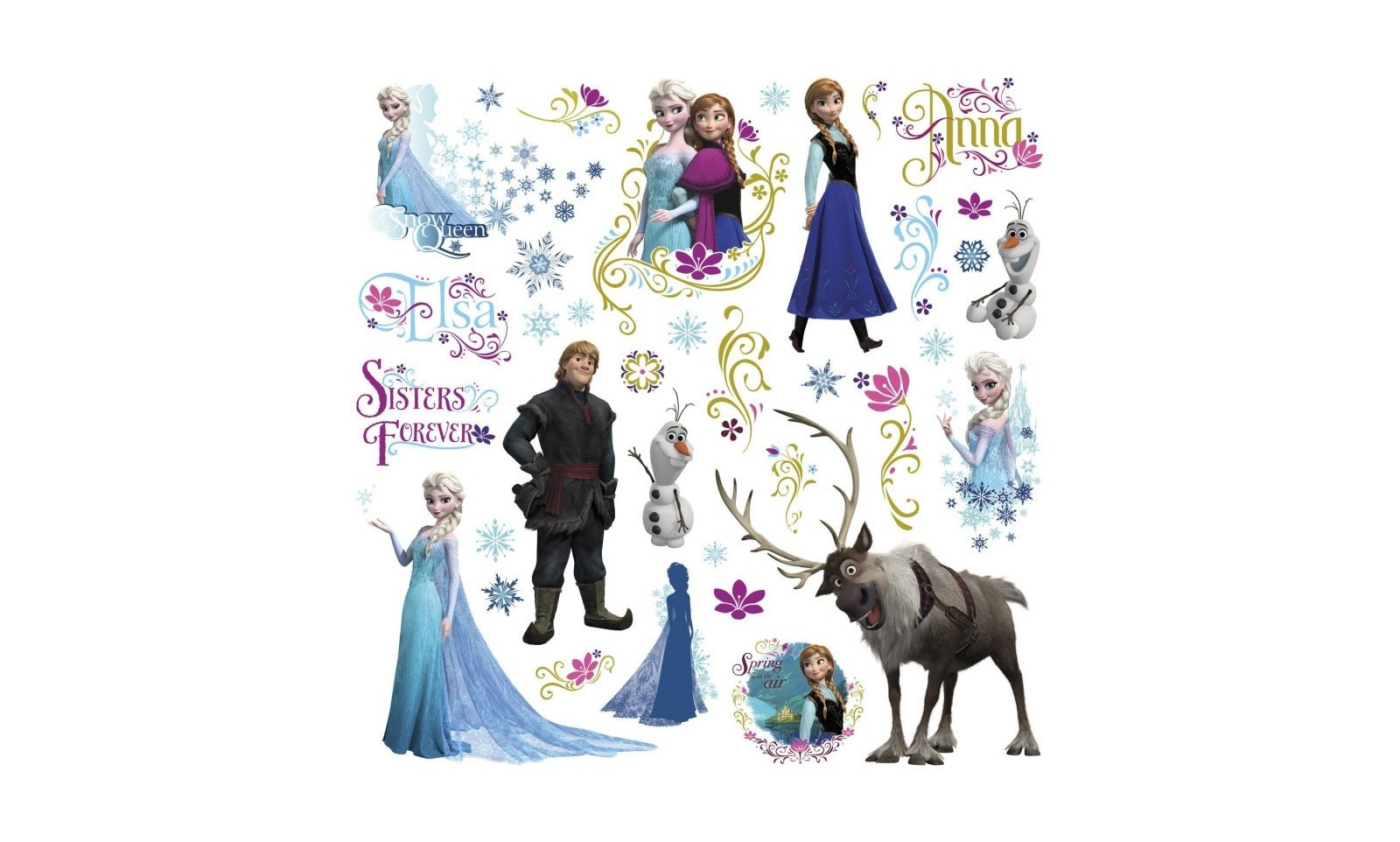 La reine des neiges stickers personnages d co film cin ma - Personnages reine des neiges ...