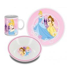 Disney Princess - Set Petit-déjeuner Cendrillon et Belle