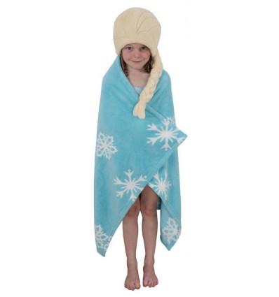 la reine des neiges serviette de bain cape elsa 120 x 80 cm d co film cin ma disney. Black Bedroom Furniture Sets. Home Design Ideas