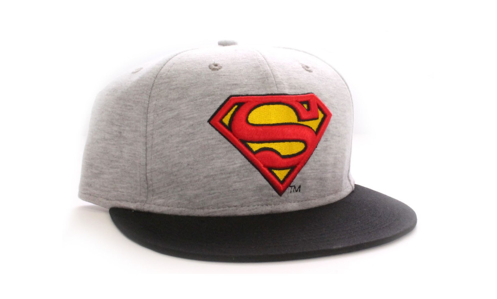 dc comics casquette baseball grise logo superman vintage. Black Bedroom Furniture Sets. Home Design Ideas