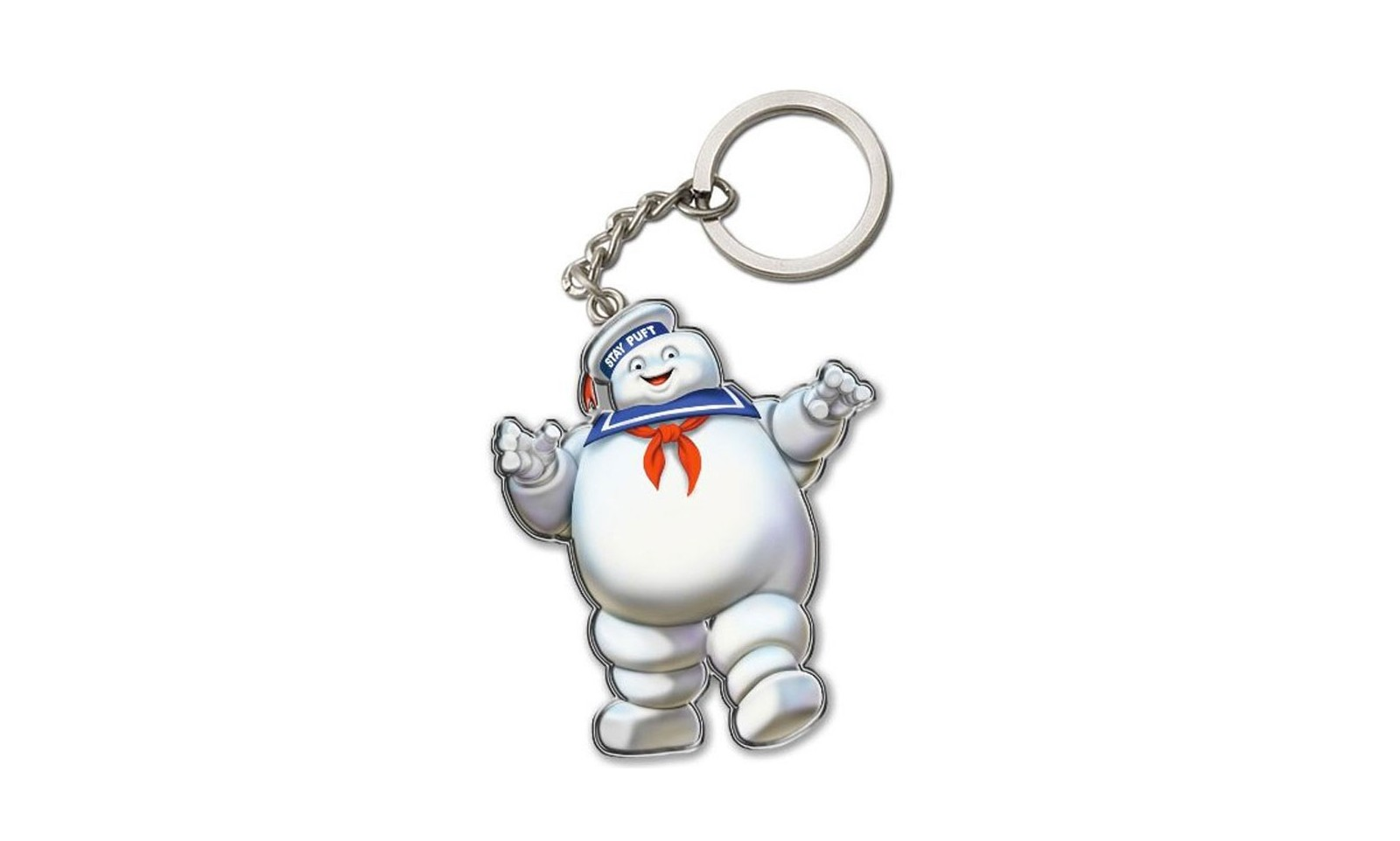 Ghostbusters Stay Puft Marshmallow Man Metal Keychain