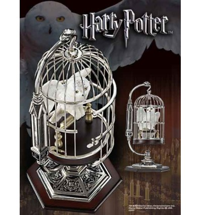 Harry potter chouette hedwige miniature en cage 25 cm d co cin ma statuettes film - Harry potter chouette ...