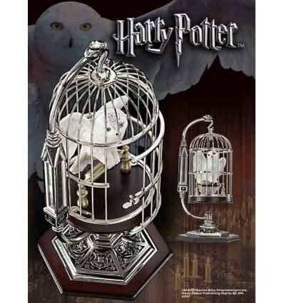 Harry potter chouette hedwige miniature en cage 25 cm d co cin ma statuettes film - Chouette hedwige ...