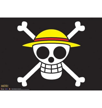 One Piece - The Straw Hat Pirates Flag Wall Scroll - 84 x 112 cm