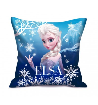 la reine des neiges coussin bleu elsa d co film cin ma. Black Bedroom Furniture Sets. Home Design Ideas