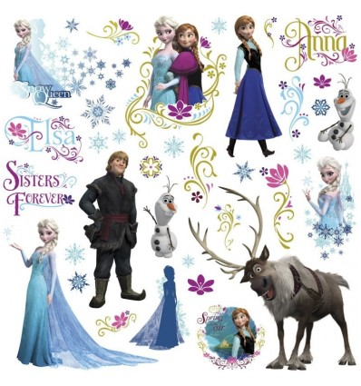 la reine des neiges stickers personnages d co film cin ma. Black Bedroom Furniture Sets. Home Design Ideas