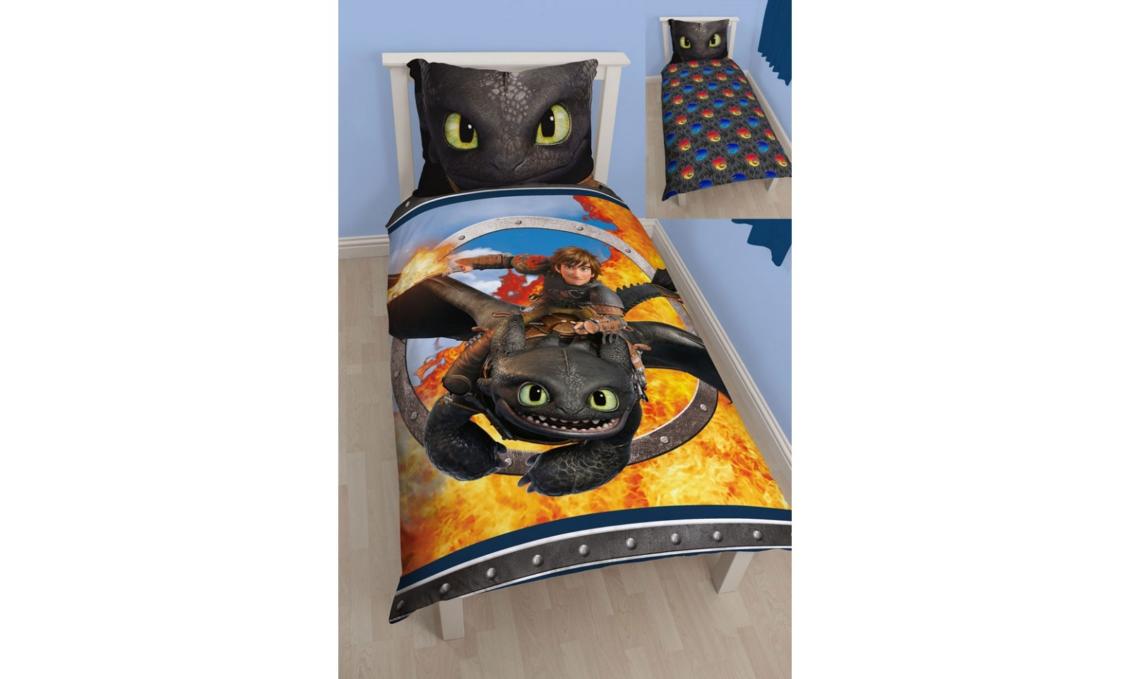 How To Train Your Dragon Toothless Reversible Duvet Set