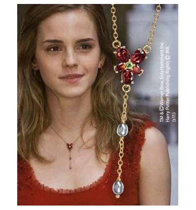 harry potter collier cristal rouge d 39 hermione granger. Black Bedroom Furniture Sets. Home Design Ideas