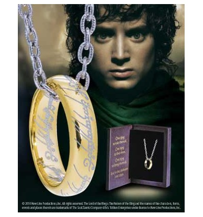 The Lord of the Rings - The One Ring™- Silver plated in Gold