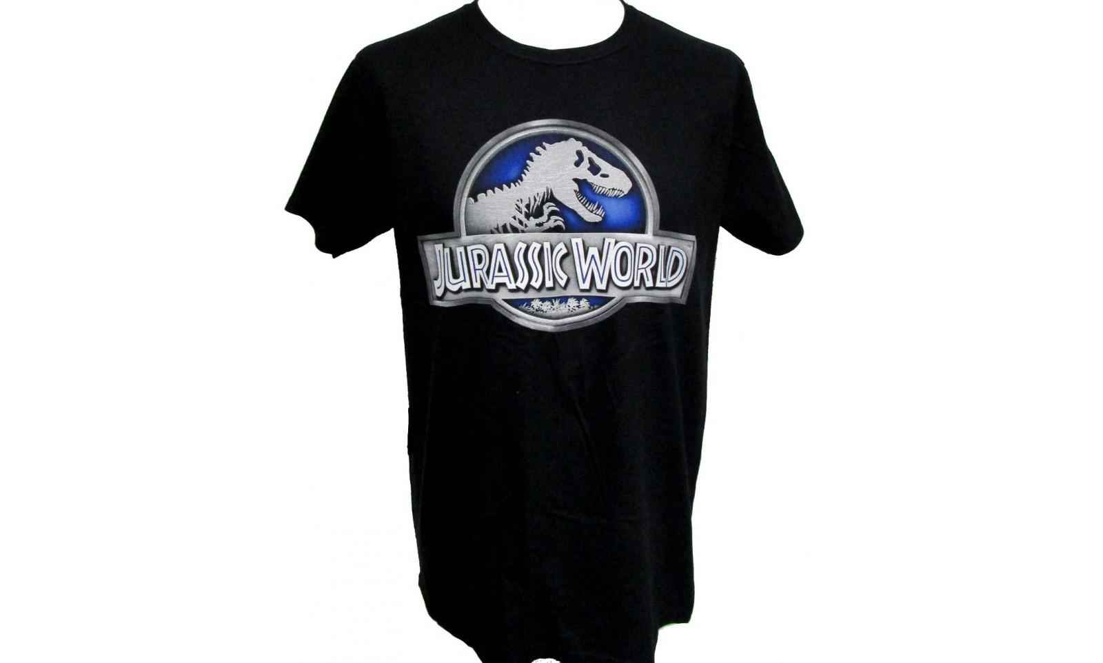 Jurassic world jurassic world logo t shirt movie film for Logo dress shirts no minimum