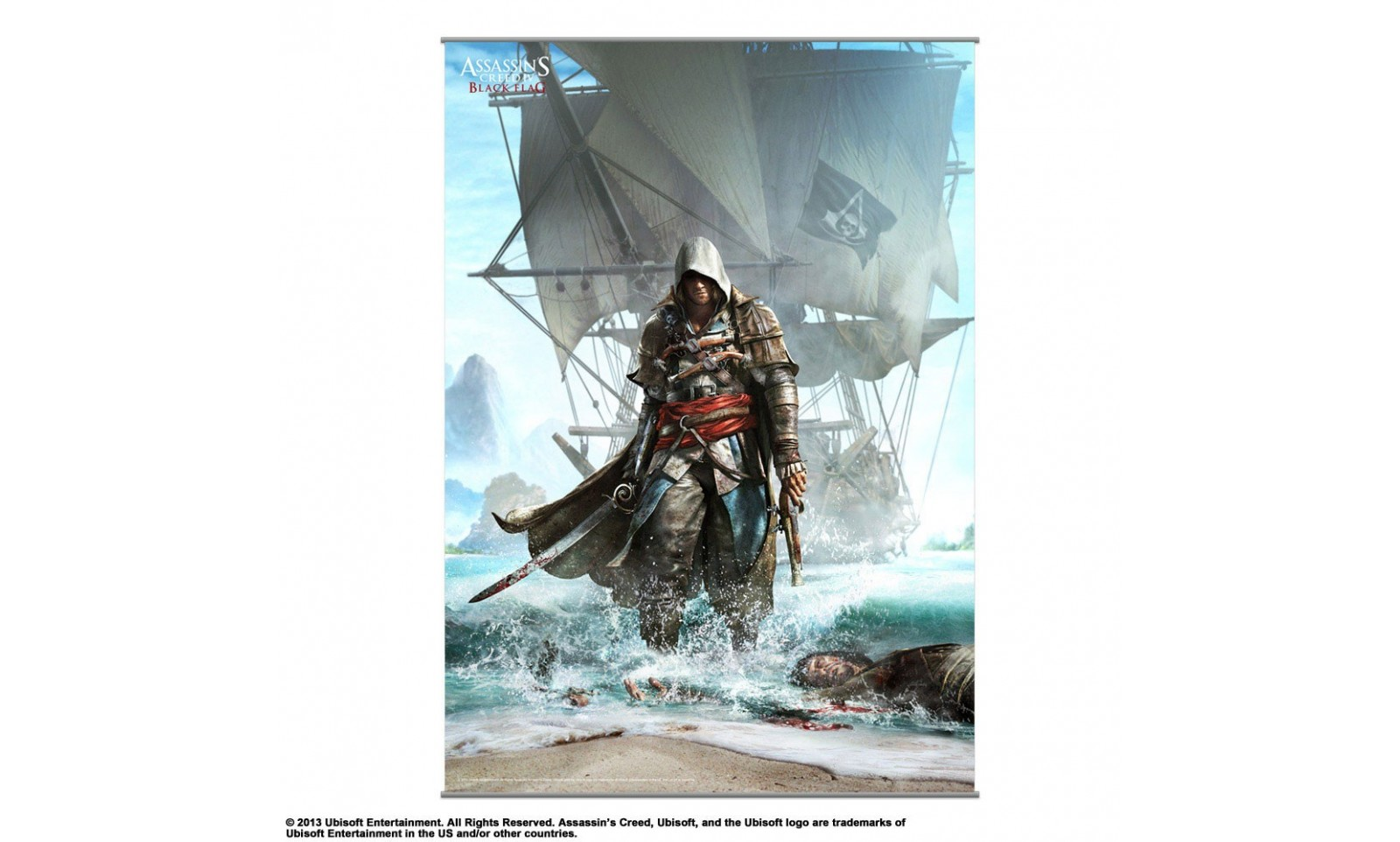 Assassin 39 s creed iv black flag pirate edward james - Housse couette pirate ...