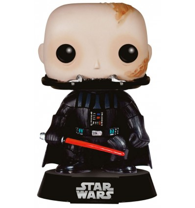 Star Wars, épisode VI : Le Retour du Jedi - Figurine POP Bobble Head Dark Vador sans casque - 9 cm