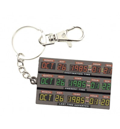 Back to the Future - Delorean Time Control Metal Keychain - 7 cm