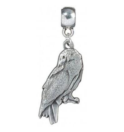 Harry Potter - Pendentif Breloque Hedwige la Chouette - Plaqué Argent