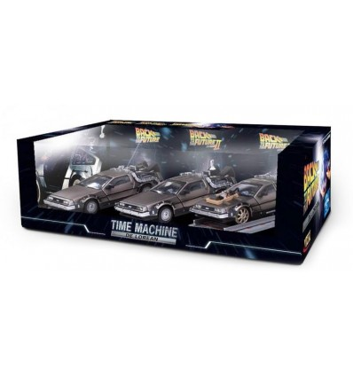 Back to the Future 1 & 3 - 3-Pack Diecast Model DMC DeLorean Replicas